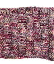 Load image into Gallery viewer, Bulky Knit Cowl in Shades of Burgundy & Gray