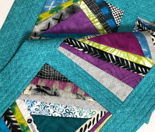 Load image into Gallery viewer, Abstract Reversible Quilted Table Runner