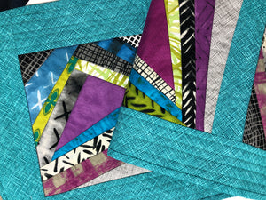 Abstract Reversible Quilted Table Runner