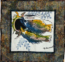 Load image into Gallery viewer, Artisan Batik Quilt -  Batik Fish Wall art