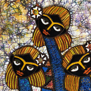Artisan Batik Quilt - Three Sisters Wall art