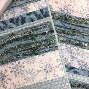 Winter Blues Reversible Table Runner