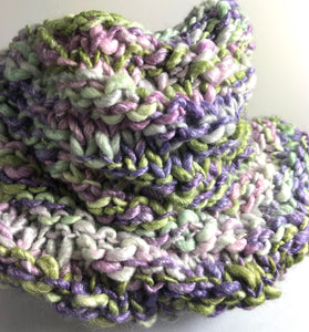 Hand Knit Chunky Cowl - Pastel Colors
