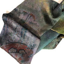 Load image into Gallery viewer, Silk Cowl - Vintage Kimono Fabric Browns