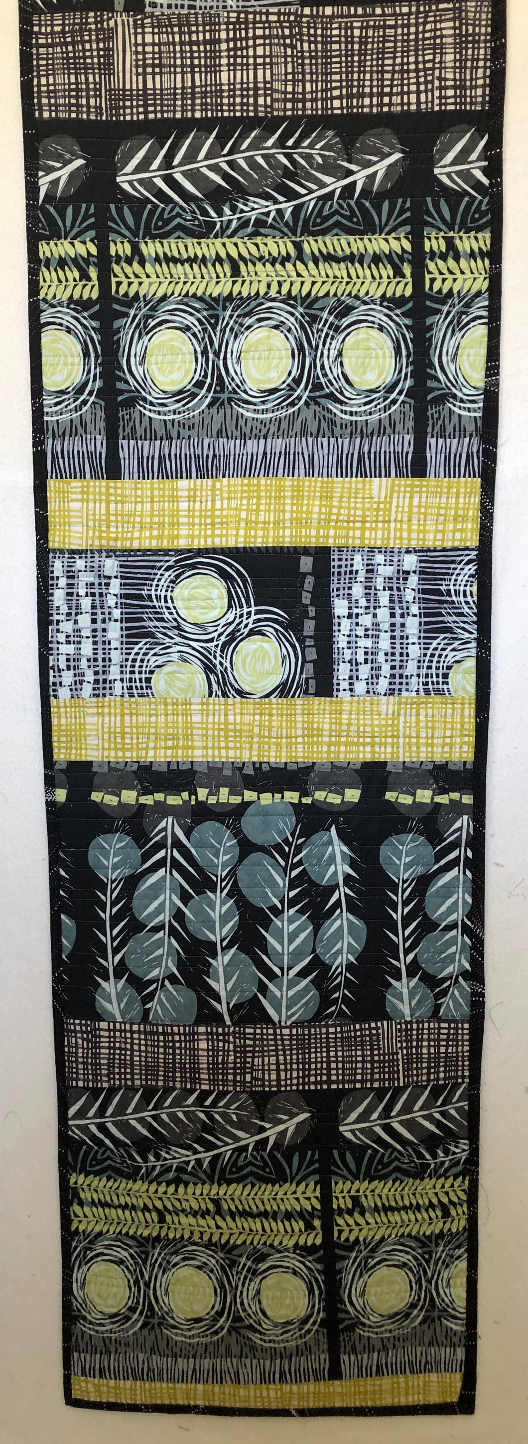 Reversible Quilted Wall Hanging or Table Runner