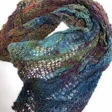 Load image into Gallery viewer, Hand Knit  Hand Dyed Cotton Scarf