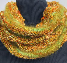 Load image into Gallery viewer, Hand Knit Textured Cowl, Fall Colors Cowl
