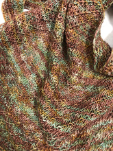 Load image into Gallery viewer, Hand Knit Textured Silky Merino Shawl