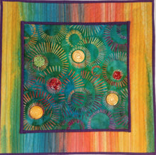 Load image into Gallery viewer, Batik Embellished Art Quilt
