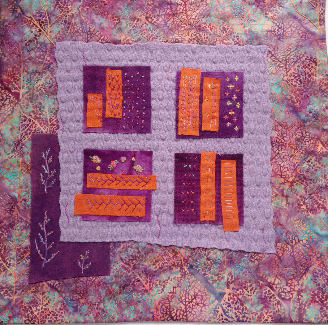 Upcycled Modern Quilted Wall Hanging