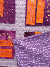 Load image into Gallery viewer, Upcycled Modern Quilted Wall Hanging