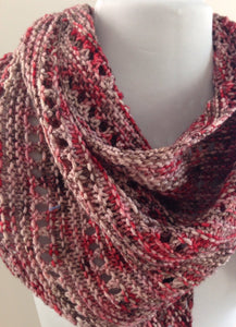 Asymmetrical Luxury Knit Cashmere Scarf