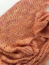 Load image into Gallery viewer, Asymmetrical Boomerang Silky Merino Scarf in Shades of Peach