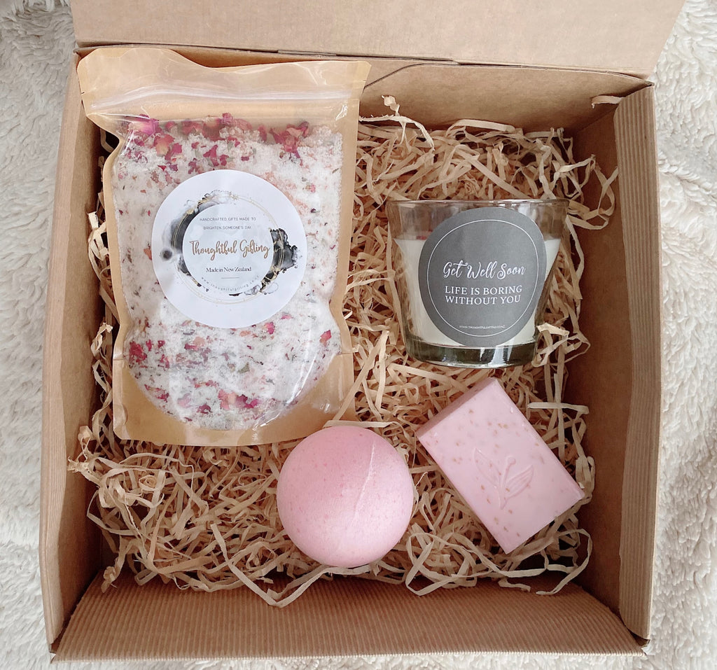 The Get Well Soon gift set is perfect to cheer someone up who's feeling under the weather!