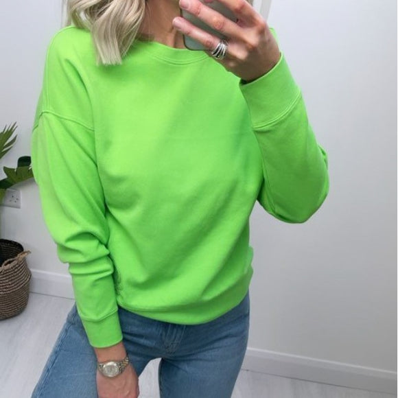 Bright Green Crew Neck  Benetton Sweater