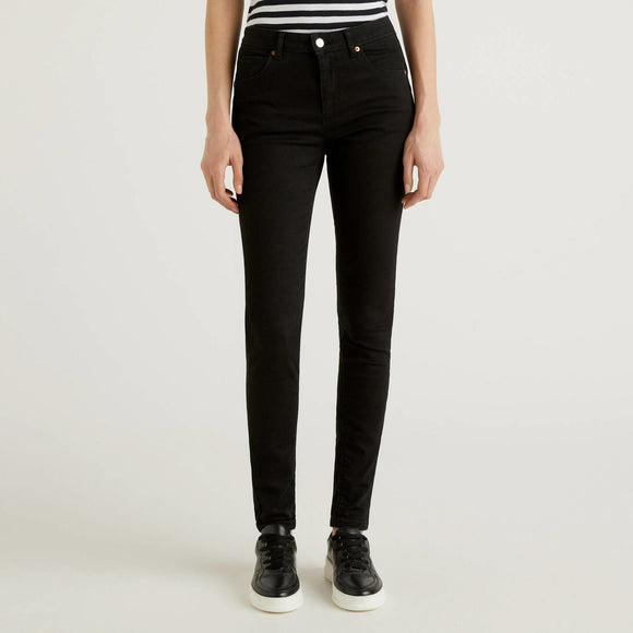 Black Skinny Fit Push Up Jeans