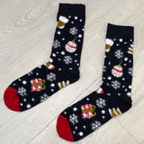 Bauble Print Novelty Christmas Socks