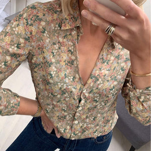 Beige Multi-coloured Patterned Shirt