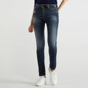 Blue Skinny Fit Push Up Jeans