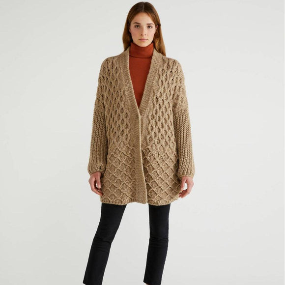 Camel Coatigan in Wool & Alpaca