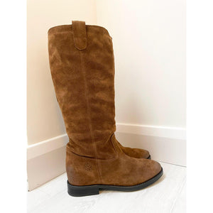 Tan Long Suede Boot
