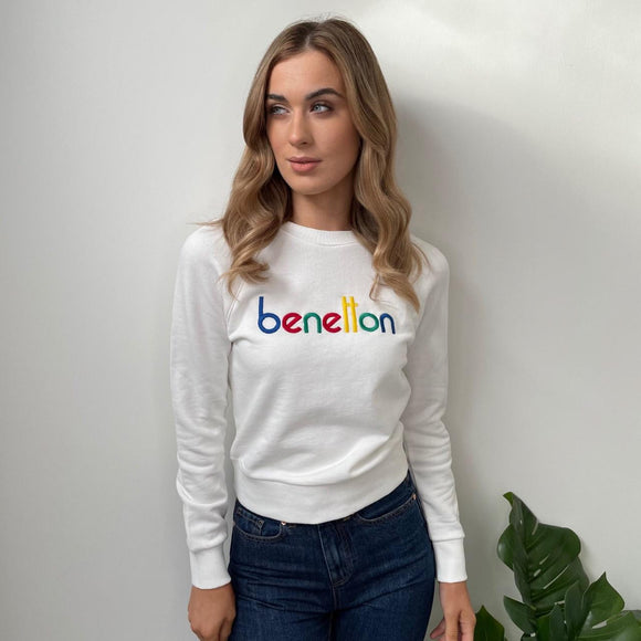 White Sweatshirt with Logo