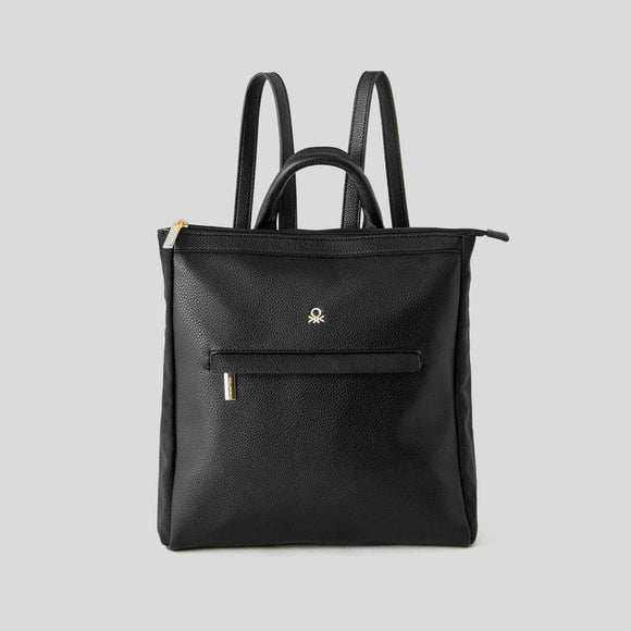 Black Rucksack with Pocket