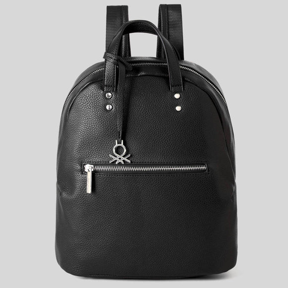 Black Backpack with Double Zipper