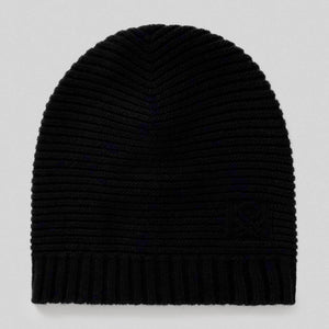 Black Wool Blend Hat