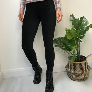 Black Corduroy Stretch Jeggings