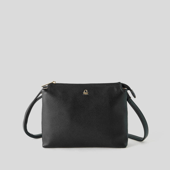 Black Bag with Double Compartment