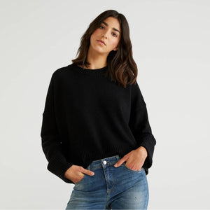 Black Sweater in Wool Blend