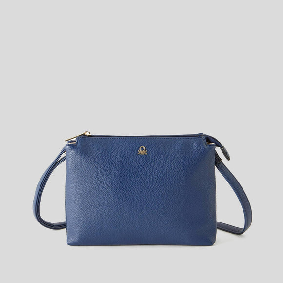 Blue Benetton Bag with Double Compartment