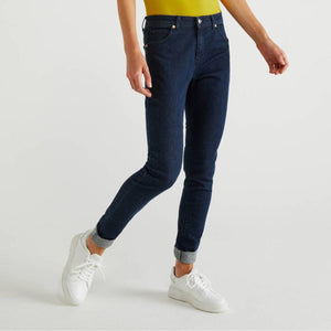 Dark Blue Skinny Fit Push Up Jeans