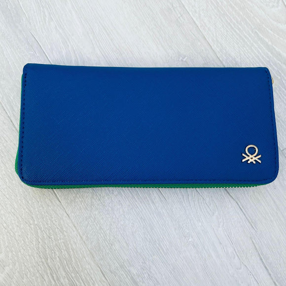 Blue Large Two-tone Wallet
