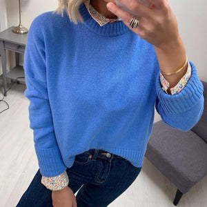 Pale Blue Sweater in Wool Blend