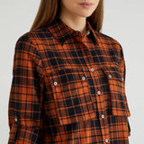 Rust Check Shirt with Pockets