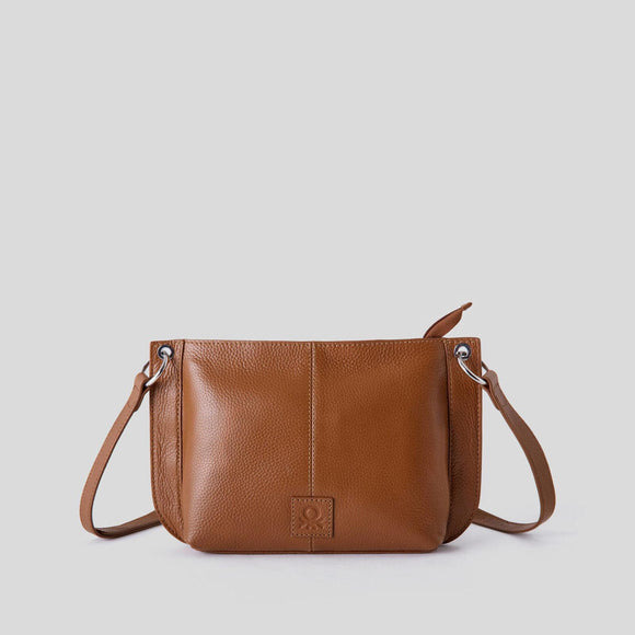 Brown Crossbody Bag in Genuine Leather