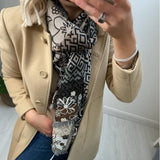 Brown Jacquard Scarf
