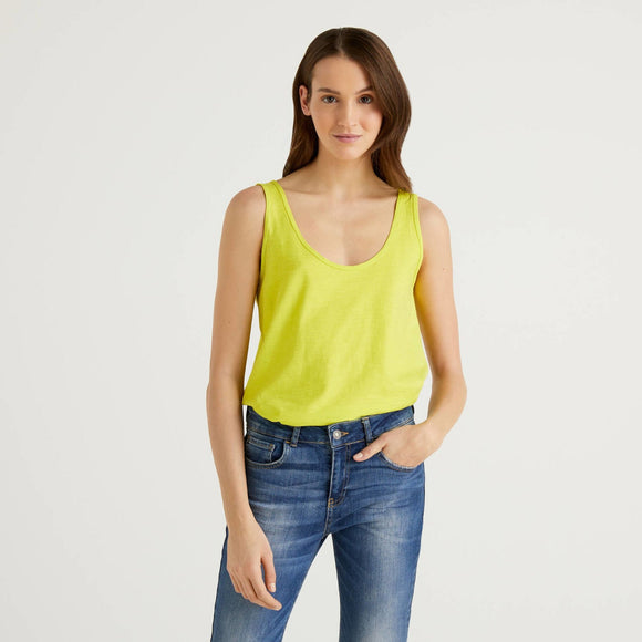 Lime 100% Cotton Tank Top