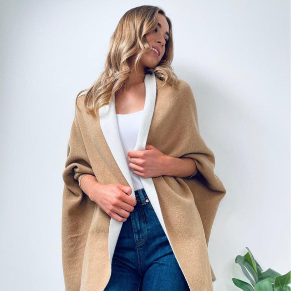 Beige Reversible Cape