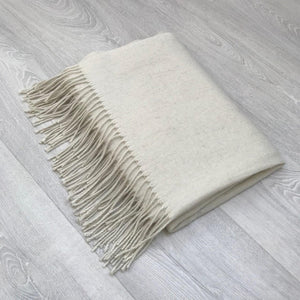 Creamy White Scarf with Fringe