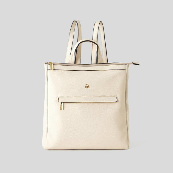 Creamy White Rucksack with Pocket