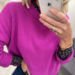 Cyclamen Sweater in Wool Blend