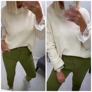 Green Belted Trouser