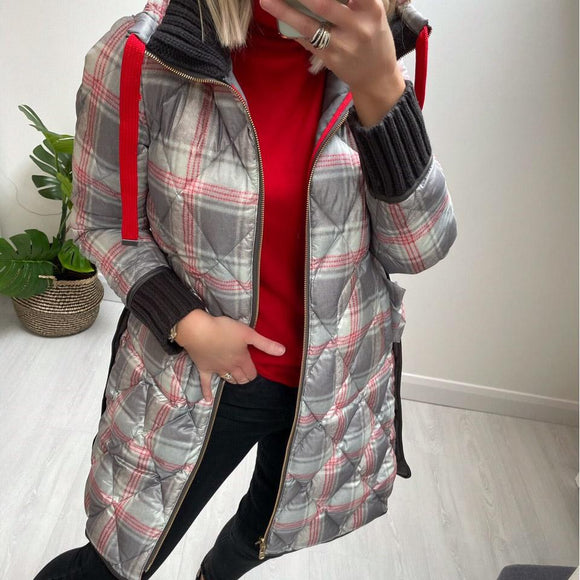 Grey Reversible Quilted Coat