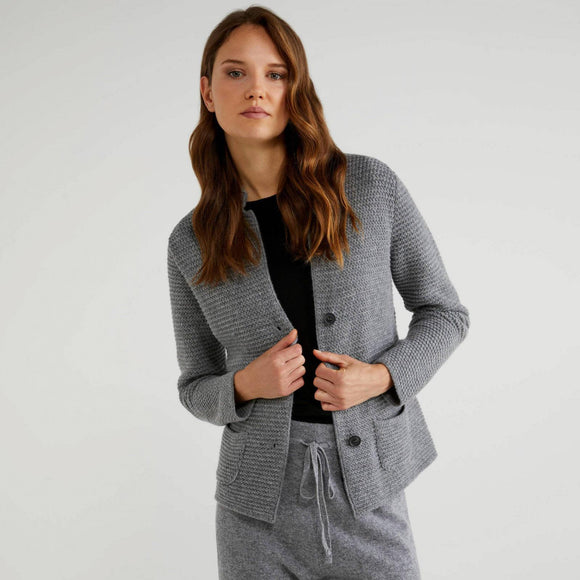 Grey Wool Blend Jacket