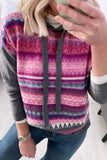 Violet Jacquard Sweater with Hood