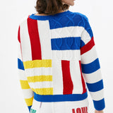 """Benny the Sheep"" Multi-colour Knit Sweater"