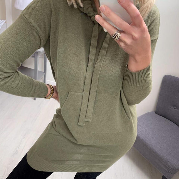Khaki Dress with Hood